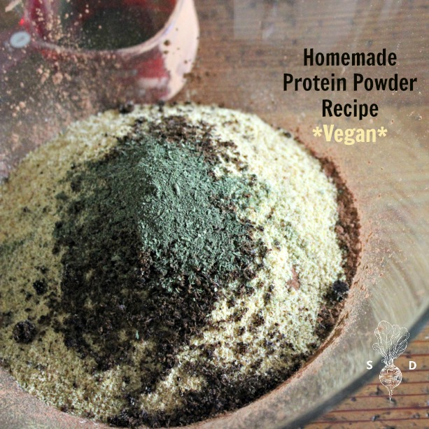 ... that I'm sharing a recipe for how to make your own protein powder
