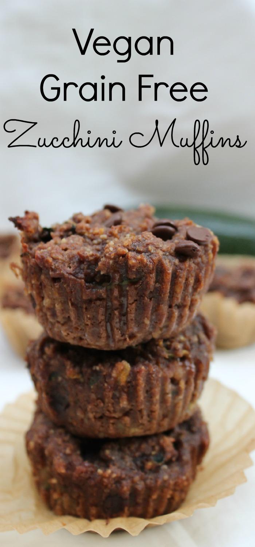 Grain Free Vegan Zucchini Muffins
