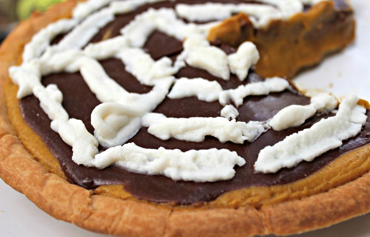 Vegan Pumpkin Chocolate Pie » The Seasonal Diet