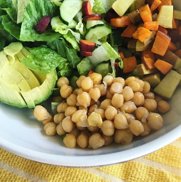 Enjoying a big salad every day is a great way to increase your water and fiber intake.